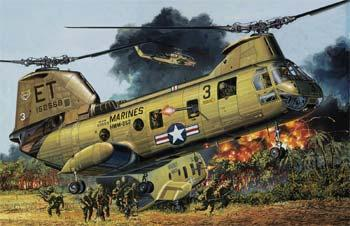 model helicopter,model helicopters,1/48 CH-46A/D USMC/Vietnam Heli