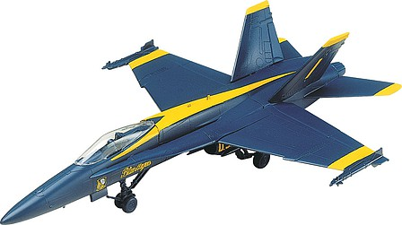 scale model aircraft,plastic airplane model kit,F-18 Blue Angel -- Snap Tite Plastic Model Aircraft Kit -- 1/72 Scale -- #851185