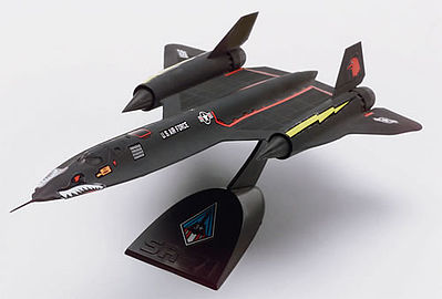 scale model aircraft,plastic airplane model kit,SR-71A Blackbird -- Snap Tite Plastic Model Aircraft Kit -- 1/110 Scale -- #851187