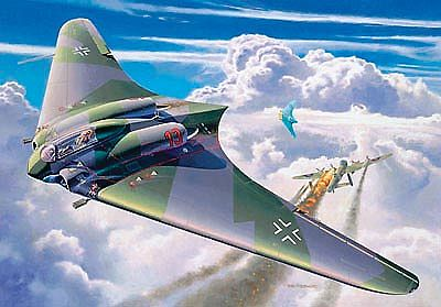 airplane model kits,Horten Go229 Flying Wing Aircraft -- Plastic Model Airplane Kit -- 1/72 Scale -- #04312