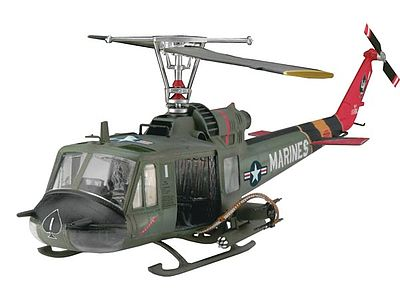 model helicopter,model helicopters,Bell UH-1C/B Huey Hog -- Plastic Model Helicopter Kit -- 1/48 Scale -- #04476