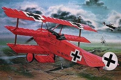 model planes,model airplane,Fokker DR.I Manfred Von Richthofen Triplane -- Plastic Model Airplane Kit -- 1/28 Scale -- #04744