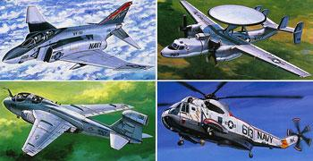 airplane model kits,US Navy Aircraft #2 -- Plastic Model Airplane Kit -- 1/350 Scale -- #78009