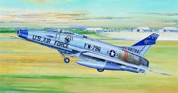 plastic airplane model,model planes,F100D Super Sabre Attack Fighter -- Plastic Model Airplane -- 1/32 Scale -- #02232